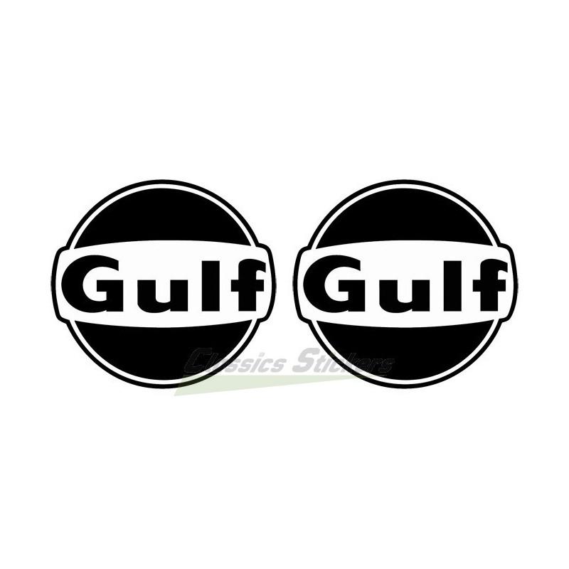 logo gulf noir et blanc classics stickers. Black Bedroom Furniture Sets. Home Design Ideas