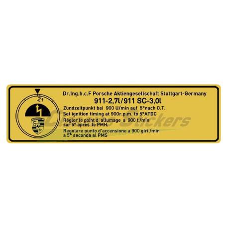 Point allumage 911 - 2,7 / 911SC - 3,0