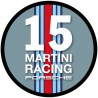 Martini round sticker 15