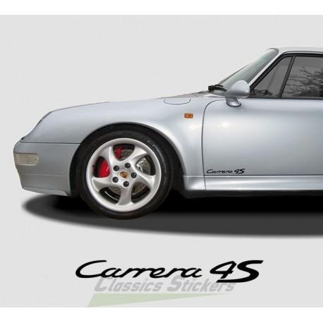 Lettrage Carrera 4S