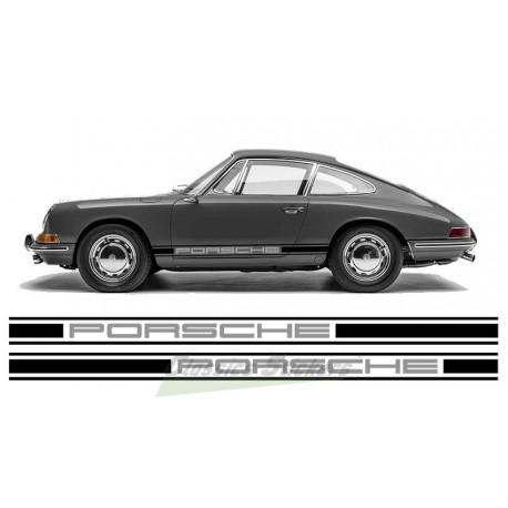 Bandes latérales Porsche bicolor