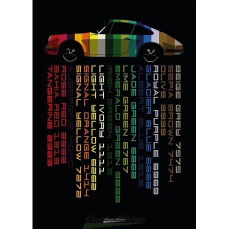 Affiche couleurs 911