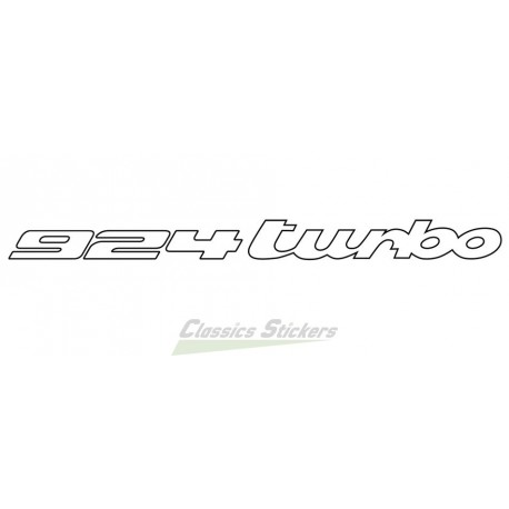 Lettrage 924 turbo