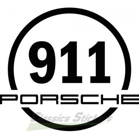 Sticker rond 911
