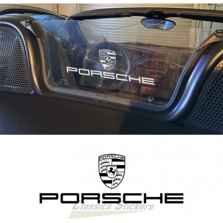 Decal Porsche for Wind screen