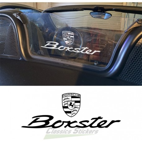 Decal Boxster for Wind screen