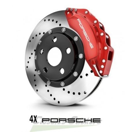 Kit 4 stickers of Porsche lettering for brake