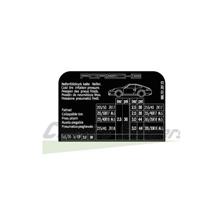 Tire pressure 996 Carrera