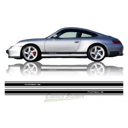 Bandes latérales Porsche découpé