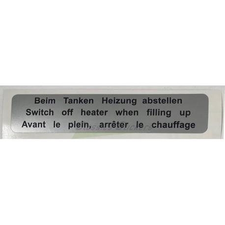 étiquette arrêt chauffage
