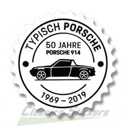 Badge 914 - 50 ans autocollant