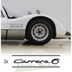 Carrera 6 lettering