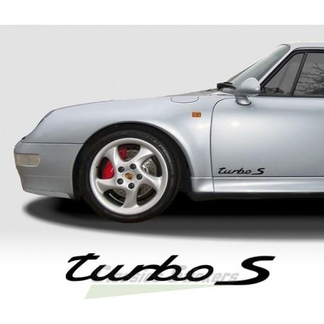 Turbo S lettering