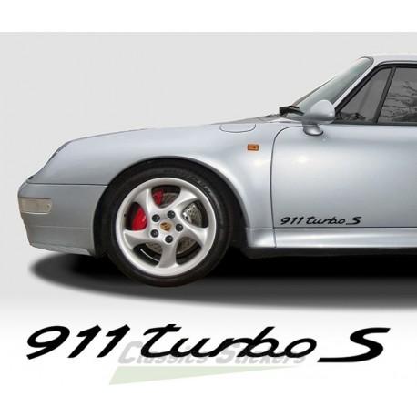 Lettrage 911 Turbo S