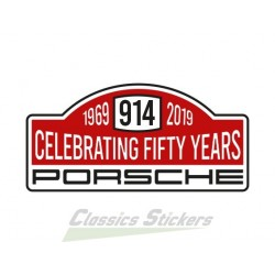 Sticker rallye 50 ans de 914