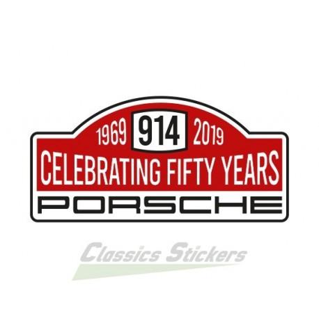 Sticker rallye 50 ans de 914