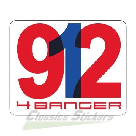 Porsche 912 4 Banger Sticker