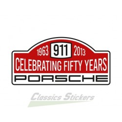 Sticker rally 50 years of 911