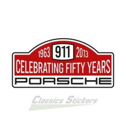 Sticker rally 50 years of 911
