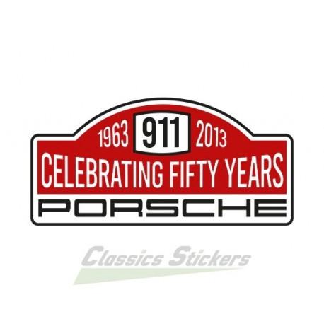 Sticker rallye 50 ans de 911