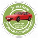 I keep my old red 924 car