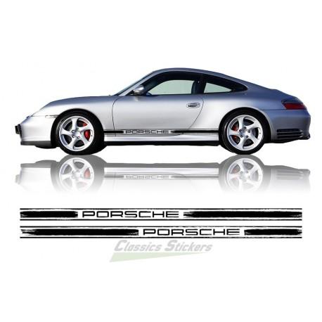 Scratched Porsche side bands