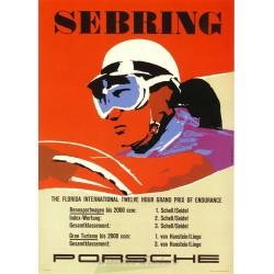 Sebring motor racing poster