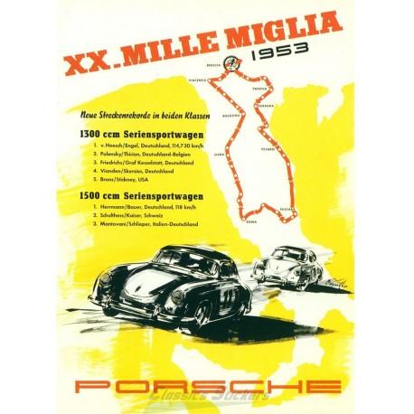 Affiche Mille Miglia 1953