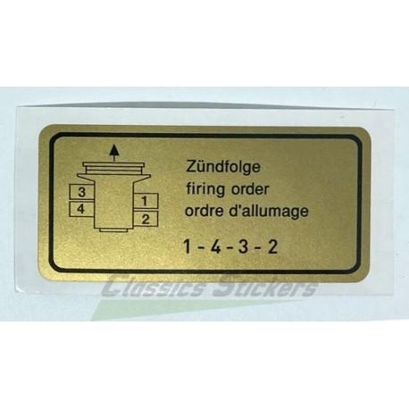 4 cylinder firing order label