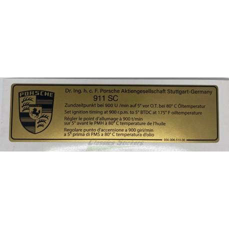 Point allumage 911 SC
