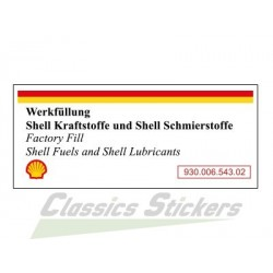 Shell Fuel & Oil Air Box Sticker