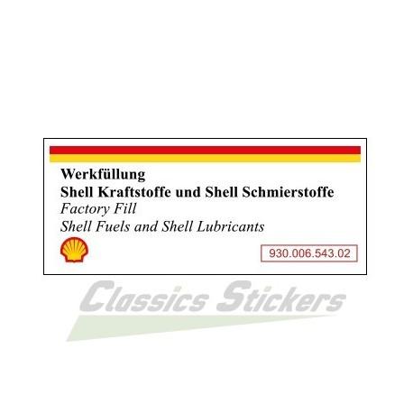 Shell Fuel & Oil Air Box Sticker