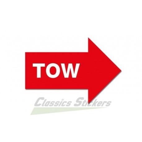 Tow boom sticker