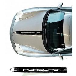 Scratched stripe Porsche hood