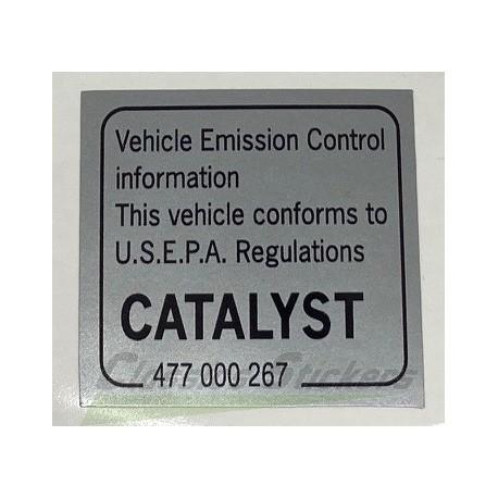 Catalytic Converter decal