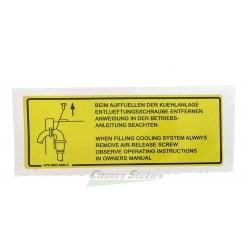 Cooling system label