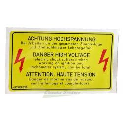 étiquette attention haute tension