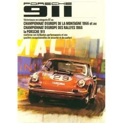 Affiche 911 Rallye 1966