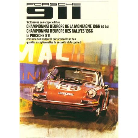 Porsche 911 European Rally Championship 1966 poster