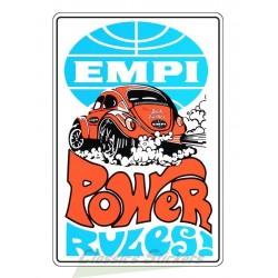 EMPI POWER RULES sticker