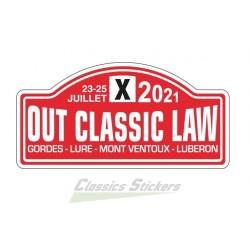 OCL 2021 plate sticker