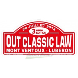 OCL 2013 rally plate