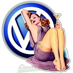 Pin-up VW Sticker