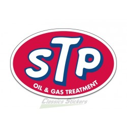 STP oil and gas Sticker