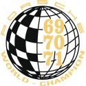 Champion du monde 69-70-71 / World Champion