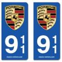 Kit 2 blasons Porsche 911