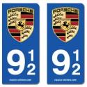 Kit 2 blasons Porsche 912