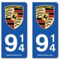 Kit 2 blasons Porsche 914