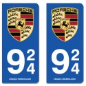 Kit 2 blasons Porsche 924
