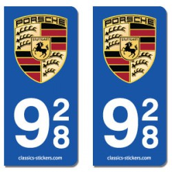 Kit 2 blasons Porsche 928
